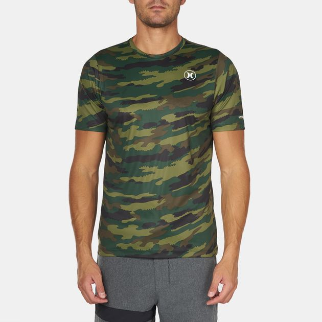 b60cd47b Shop Green Hurley Dri-FIT Icon Camo Surf T-Shirt for Mens by Hurley ...