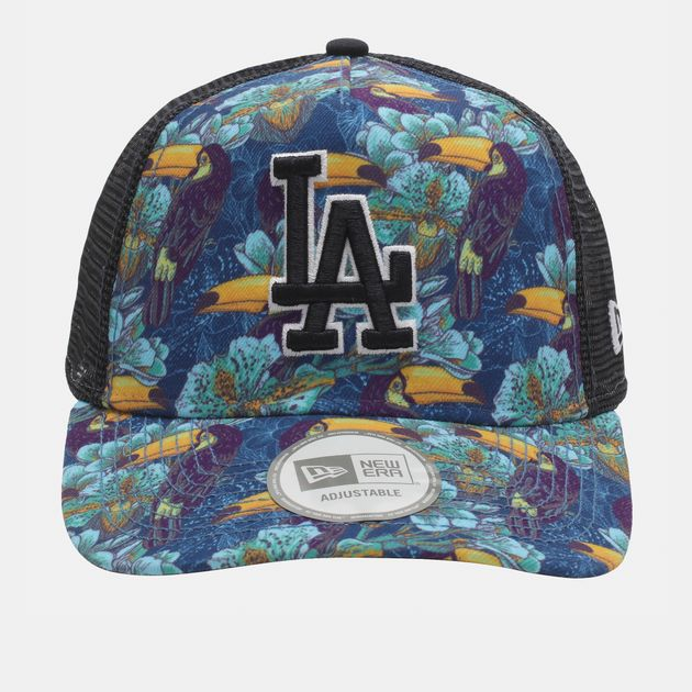 New Era Tropical Trucker LA Dodger Cap - Black