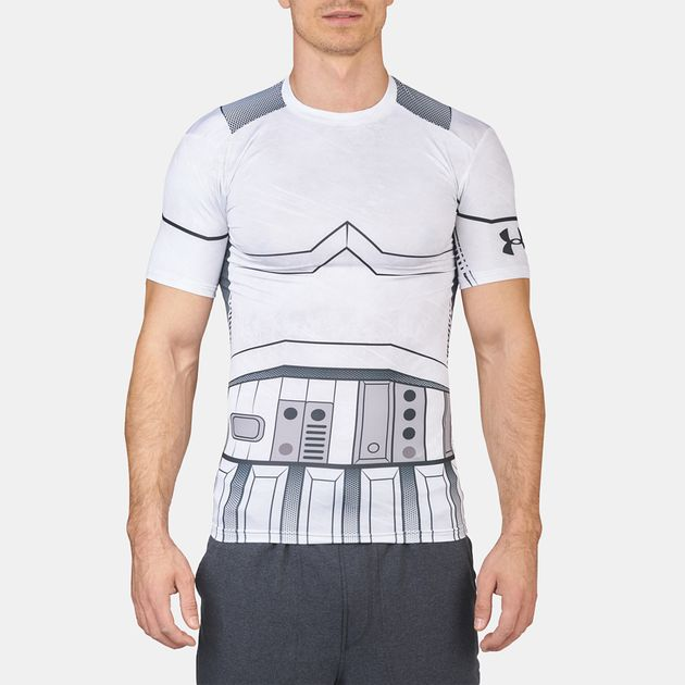 Shop White Under Armour Star Wars Trooper Compression Short Sleeve T ... 30671bcea