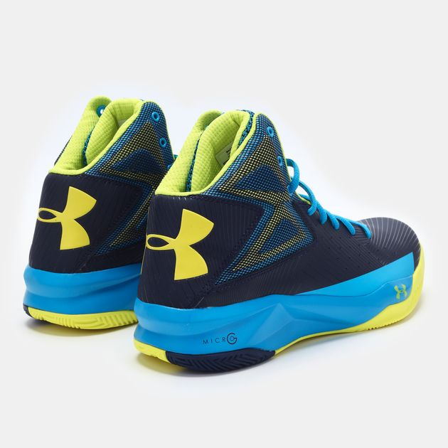 reputable site d6193 5a96f Shop Blue Under Armour UA Rocket Basketball Shoe for Mens by ...