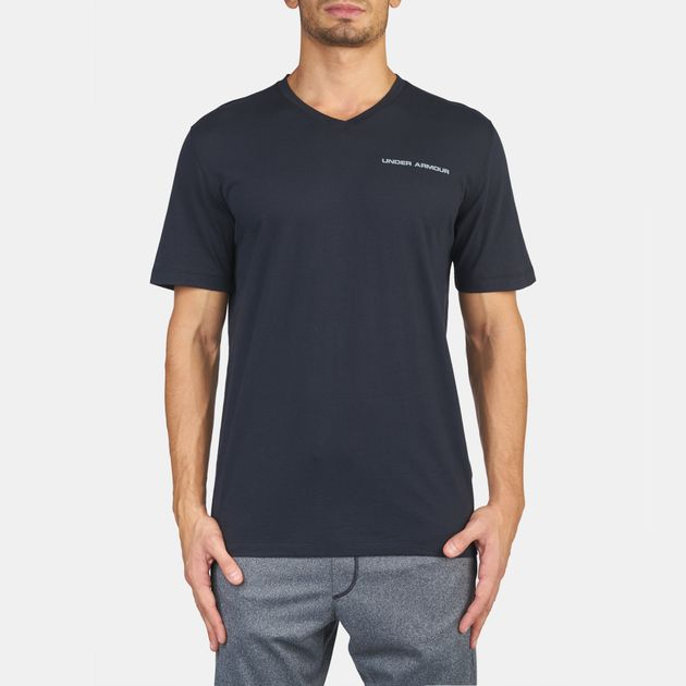 Under Armour Charged Cotton® V-Neck Short Sleeve T-Shirt