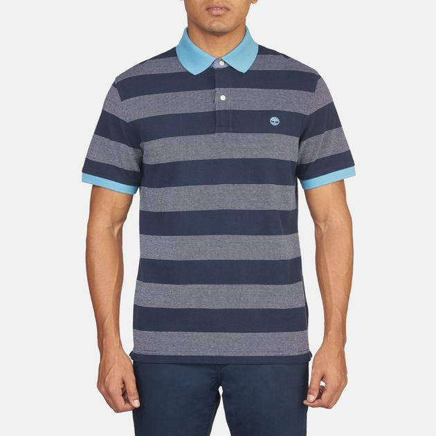 Timberland Millers River Stripe Short Sleeve Polo Shirt