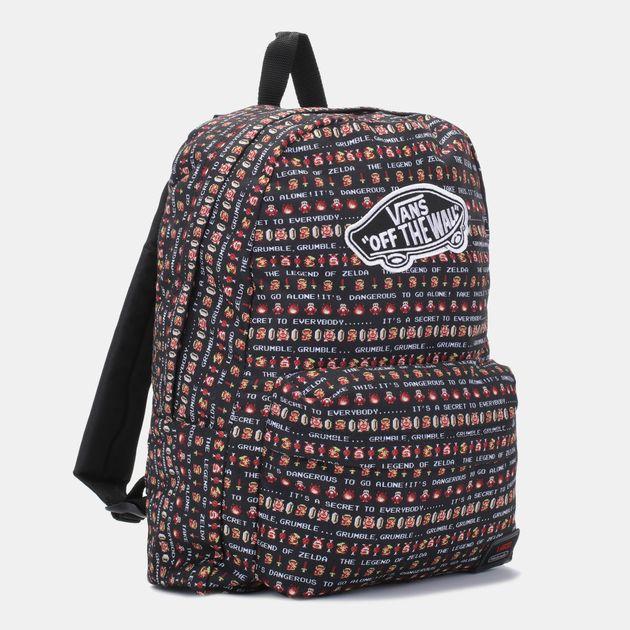 b61b1bfa6c8 Shop Black Vans Nintendo Backpack for Unisex by Vans | SSS
