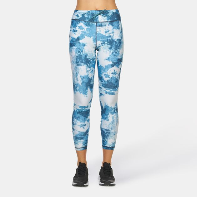 8dd1d1c8c13ae2 Shop Blue The Upside Tie Dye Denim Capri Leggings for Womens by The ...