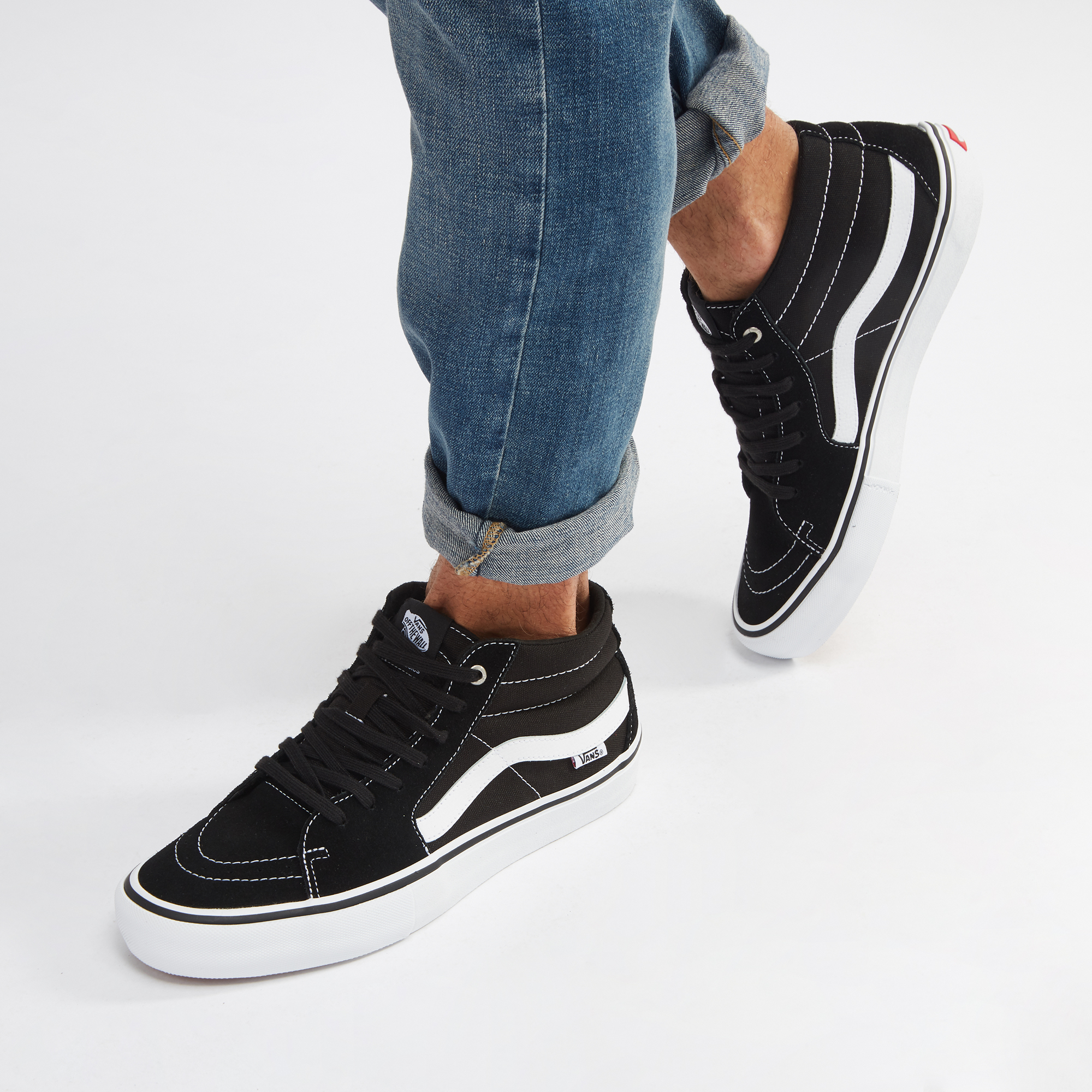 Shop Black Vans Sk8-Mid Pro Shoe for Mens by Vans  c76cd9ba6