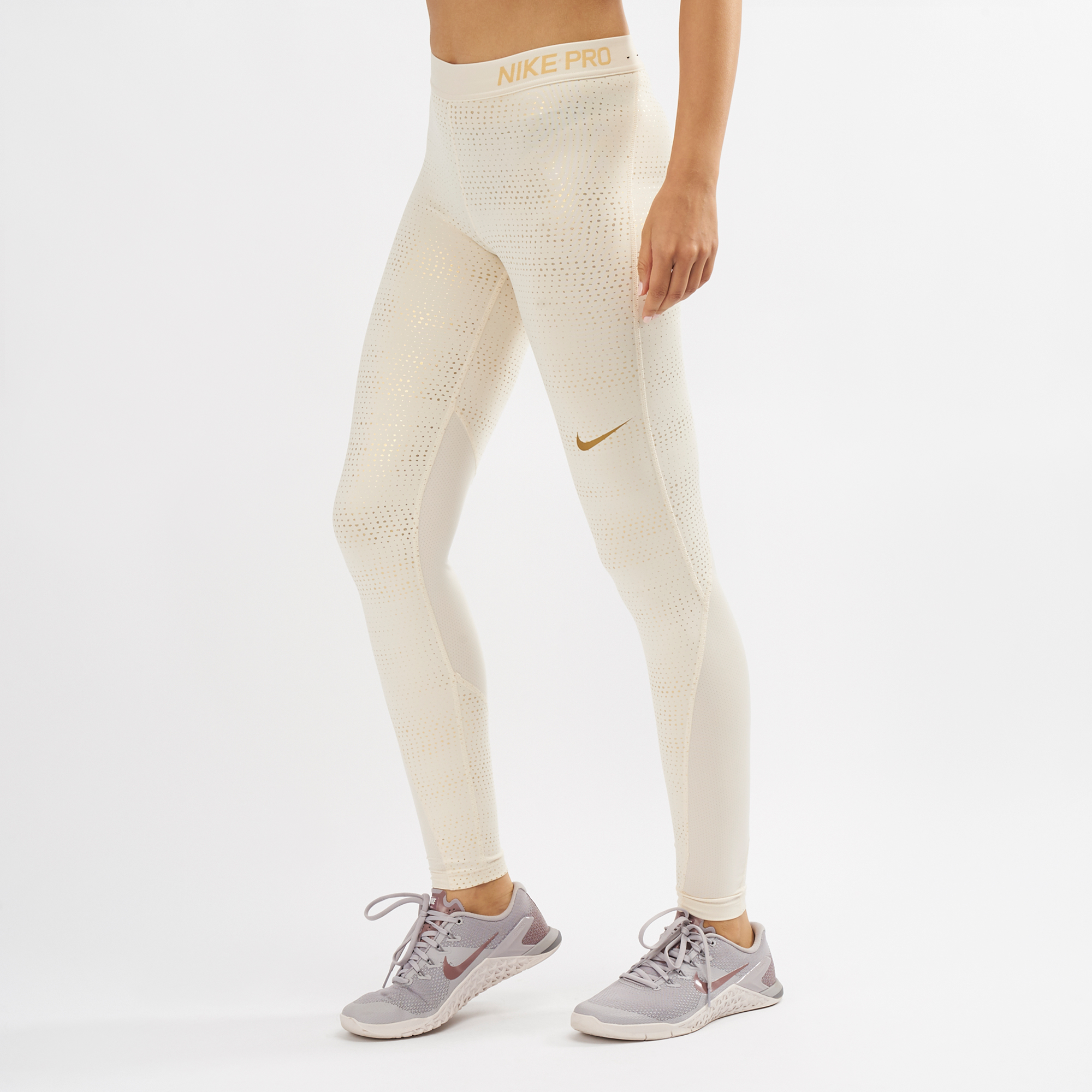 Nike Pro Metallic Dots Print Leggings | Full Length Leggings