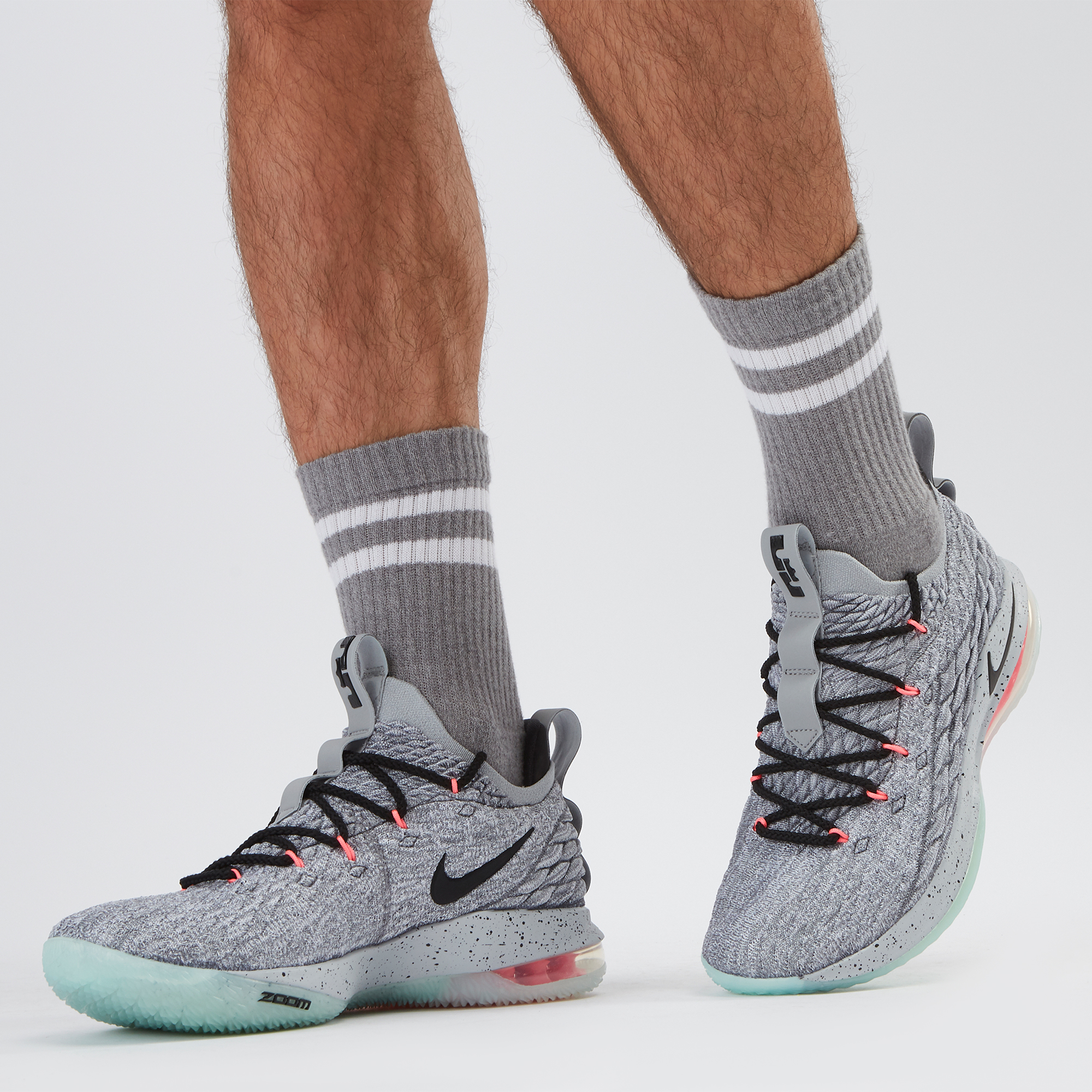 sale retailer b6cf9 e0d3e Shop Grey Nike LeBron 15 Low Shoe | Sneakers | Shoes ...