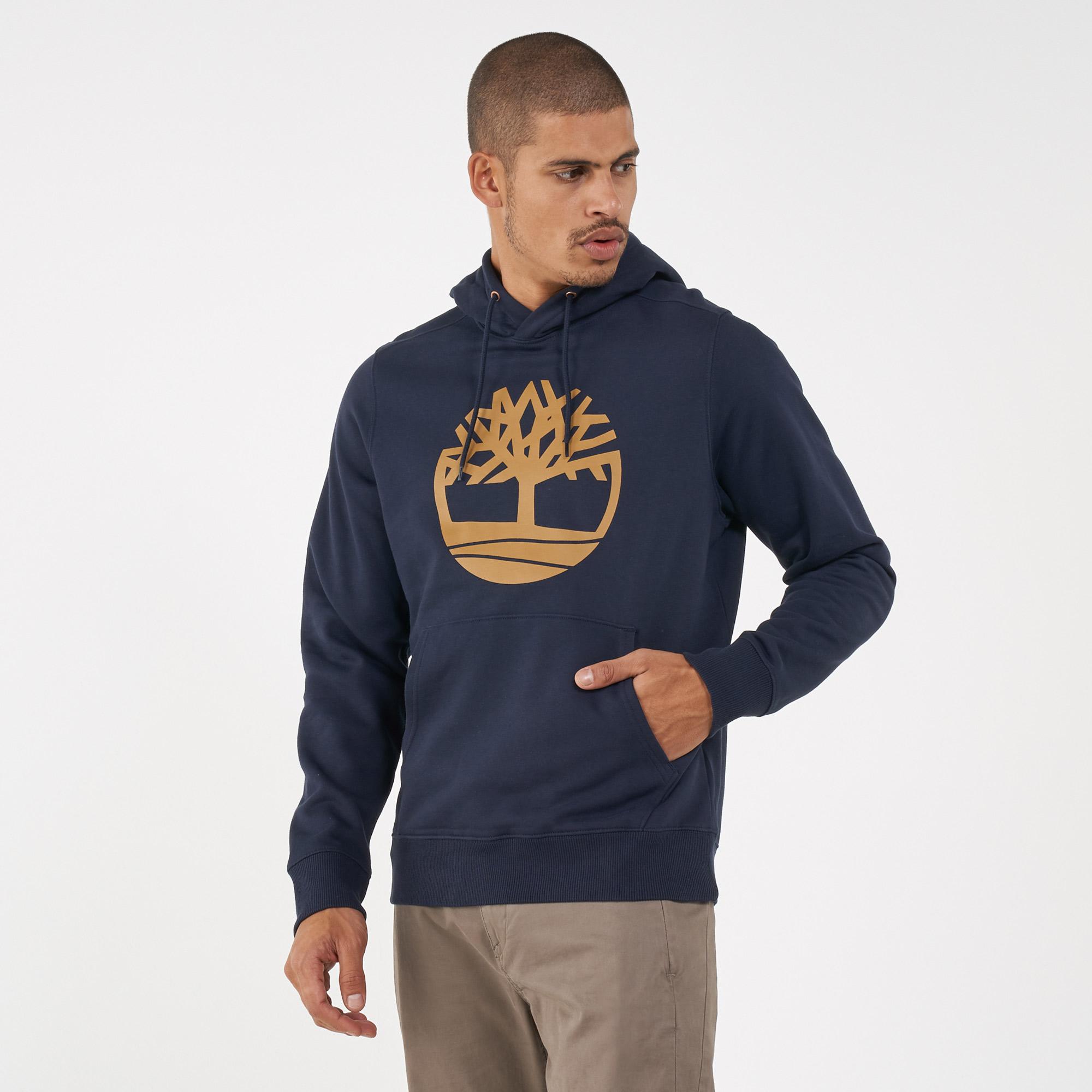 Timberland Men's Classic Tree Logo Pullover Hoodie