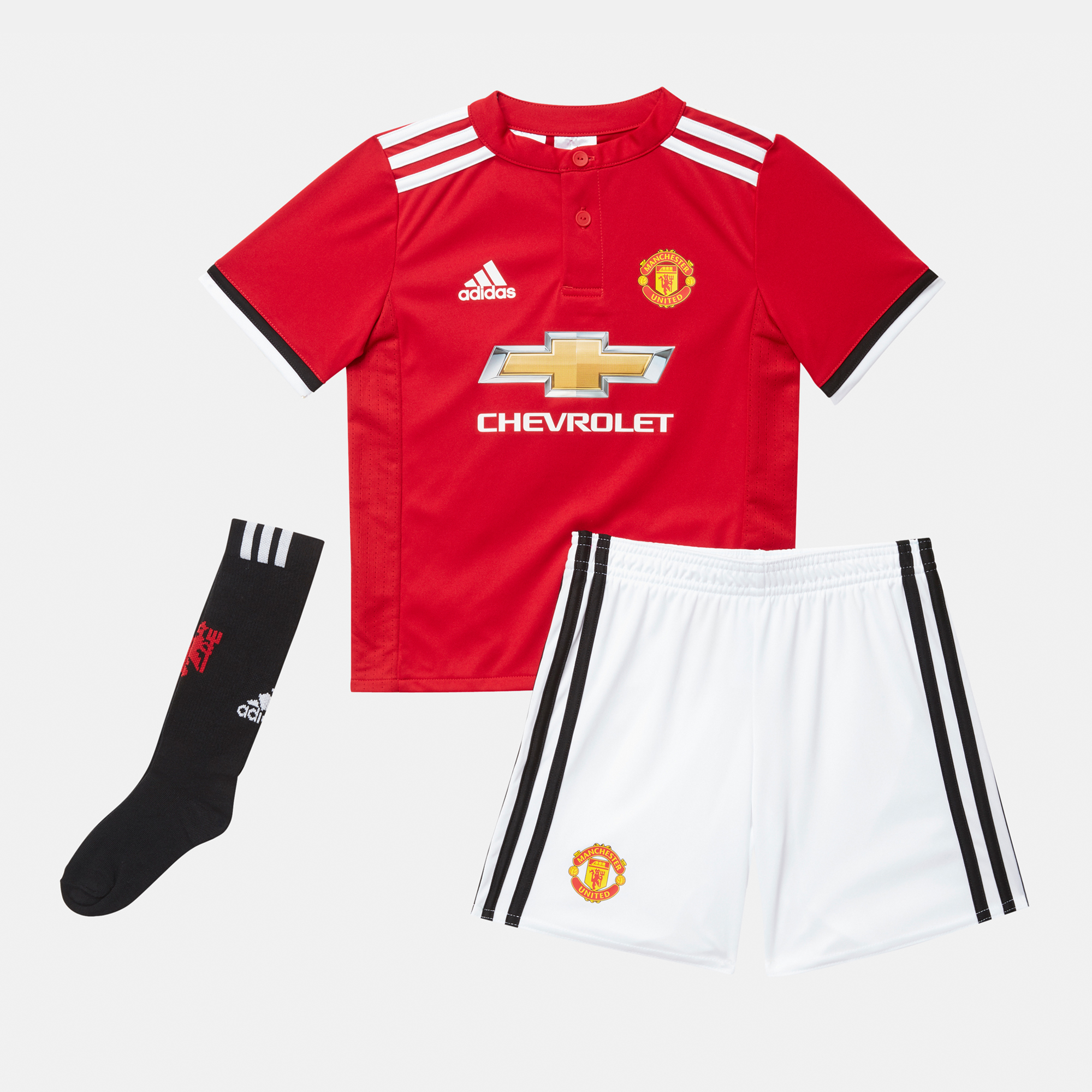 Shop Red adidas Kids  Manchester United 2017-2018 Home Mini Football Kit  for Kids by adidas  262830d94