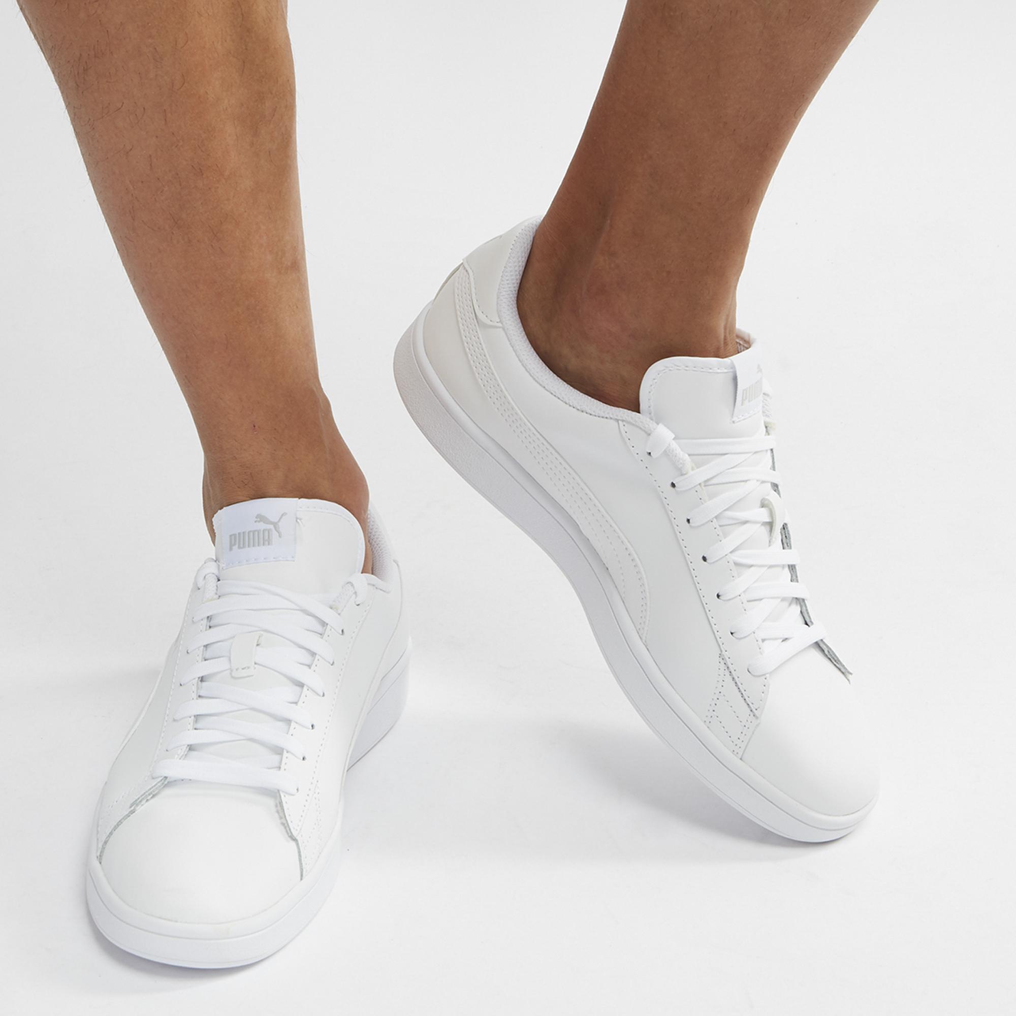 d092a3adafc Shop White PUMA Smash V2 Leather Shoe for Mens by PUMA - 8