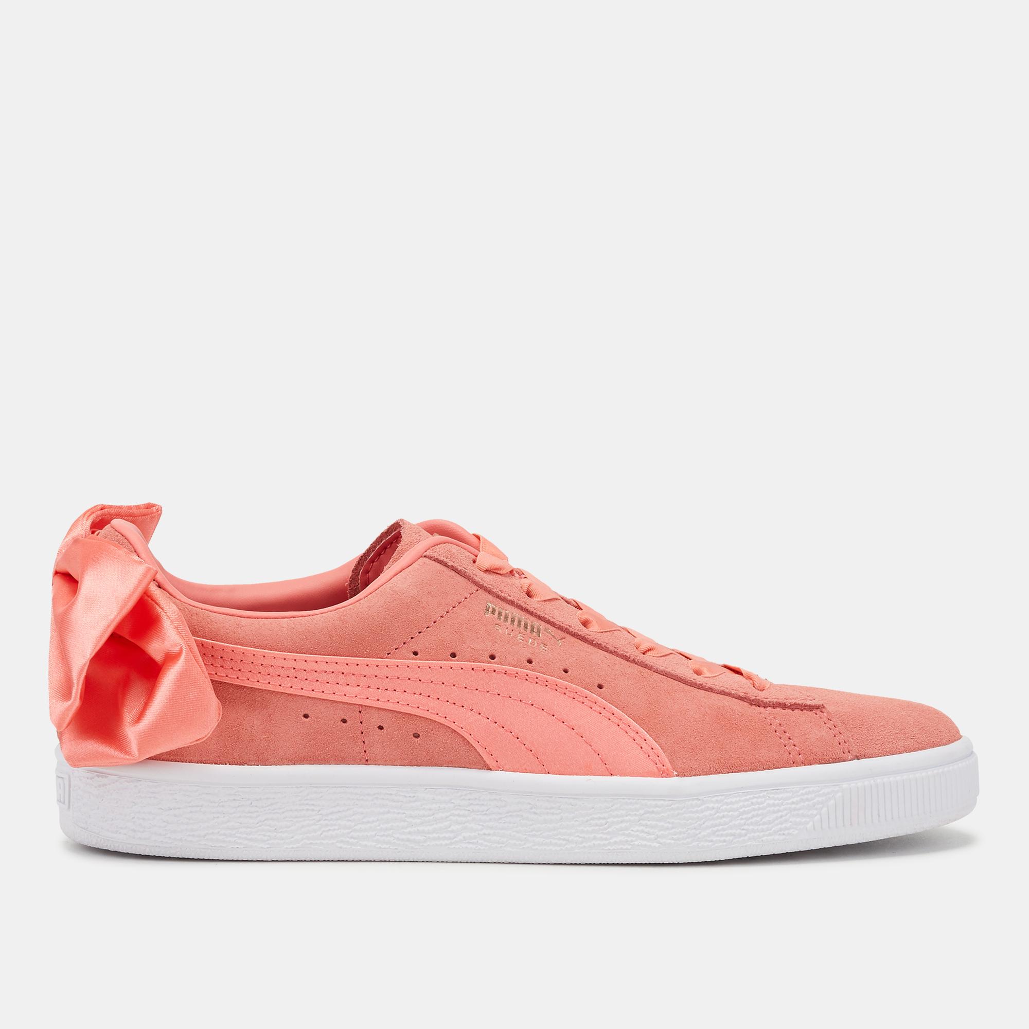 c005f2b06dd Shop Pink PUMA Suede Bow Shoe for Womens by PUMA