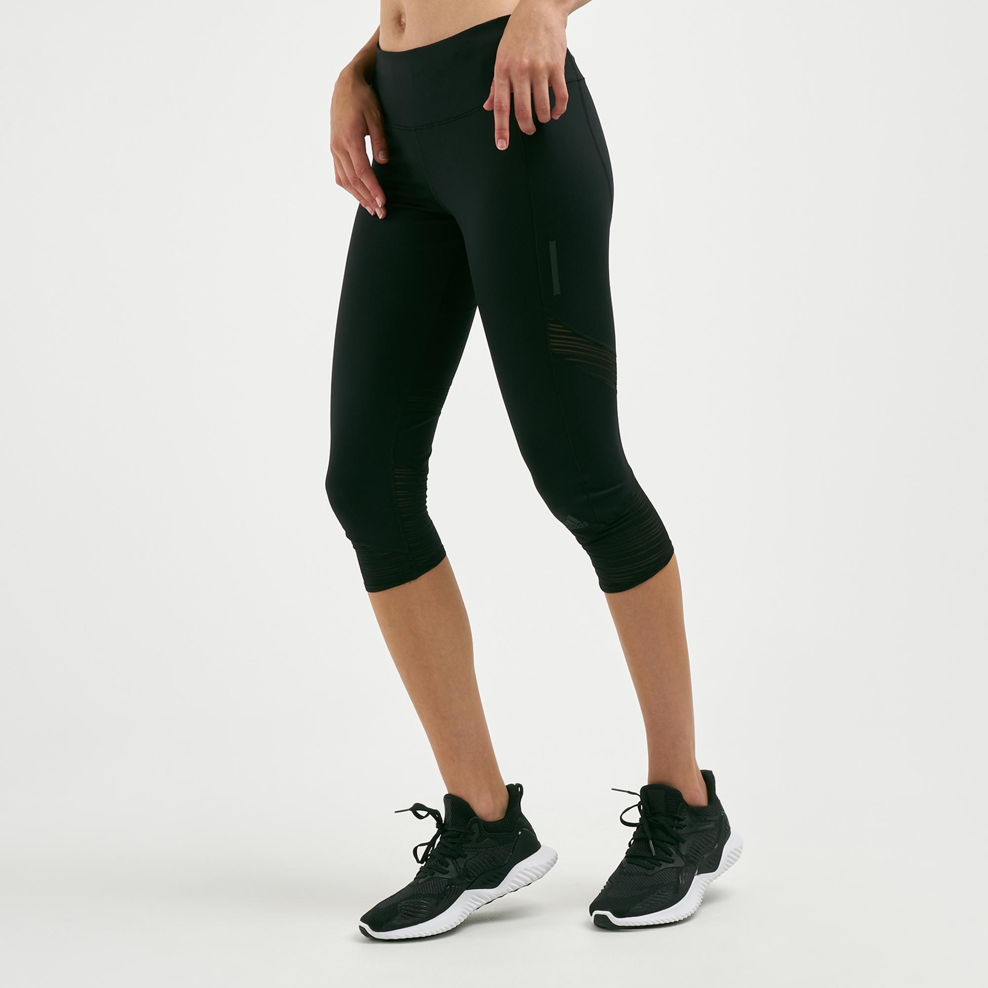 80ca4b083b74f adidas Women's How We Do Three-Quarter Leggings | Capri Leggings ...