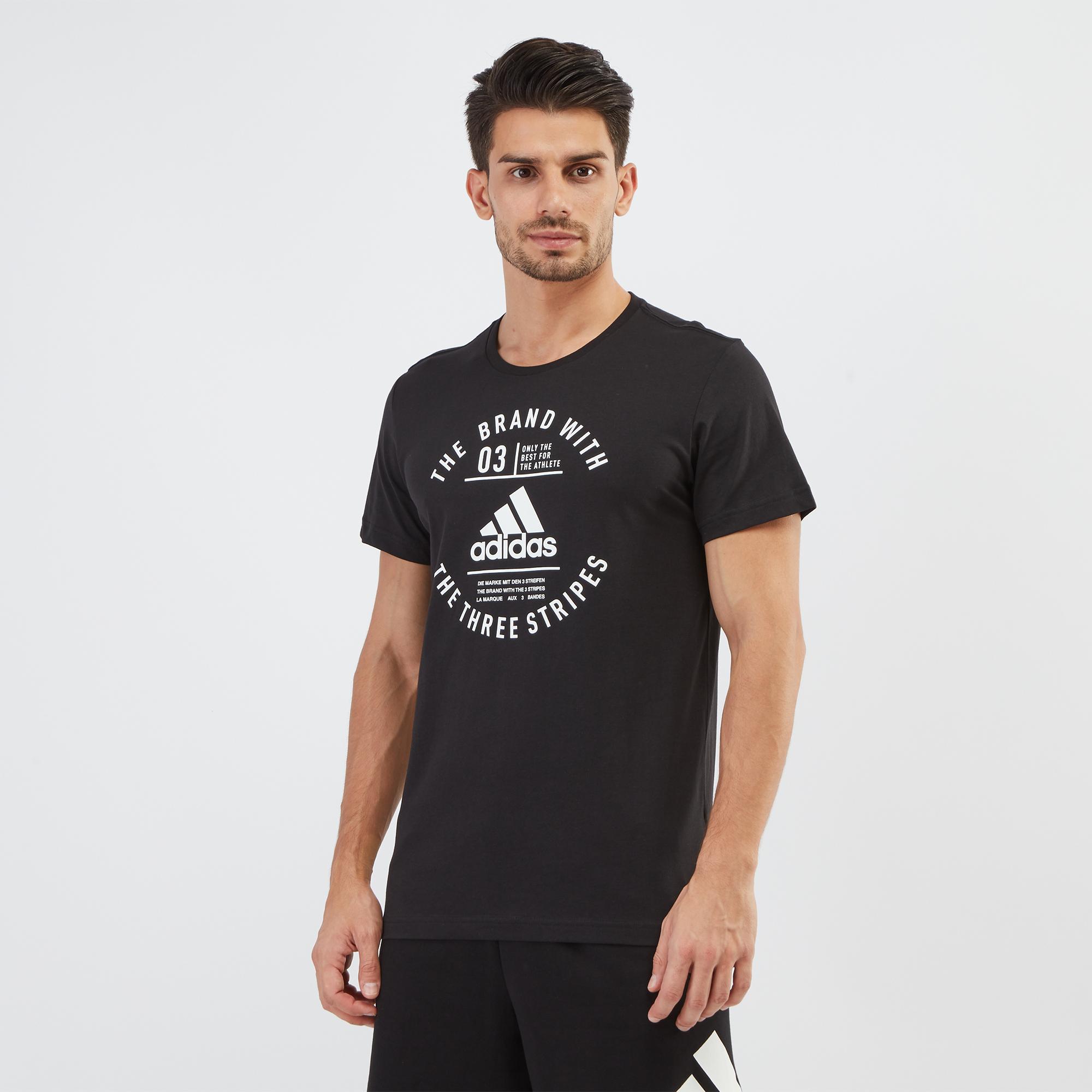 best service 621c3 d6317 Shop Black adidas Emblem Training T-Shirt   T-Shirts   Tops   Clothing    Mens   SSS