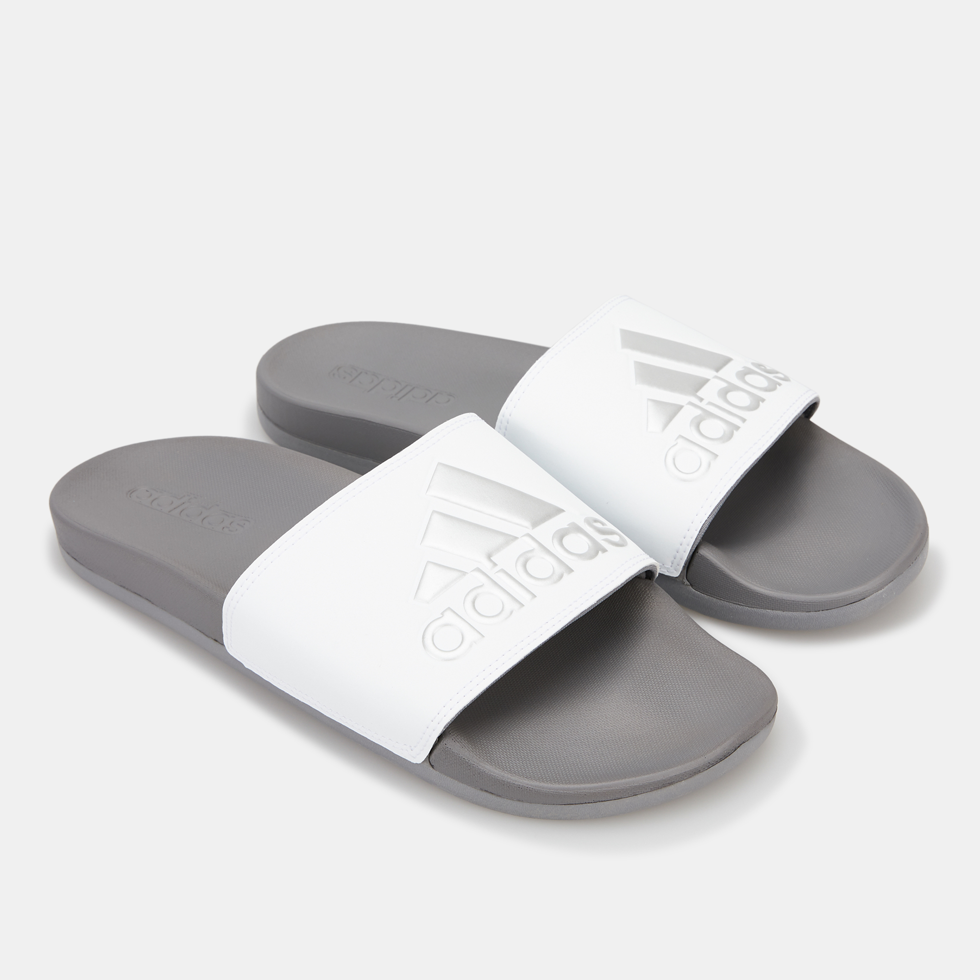 a89ef726a848 Adidas men adilette cloudfoam plus logo slides sandals jpg 2000x2000 Adidas  men flip flops