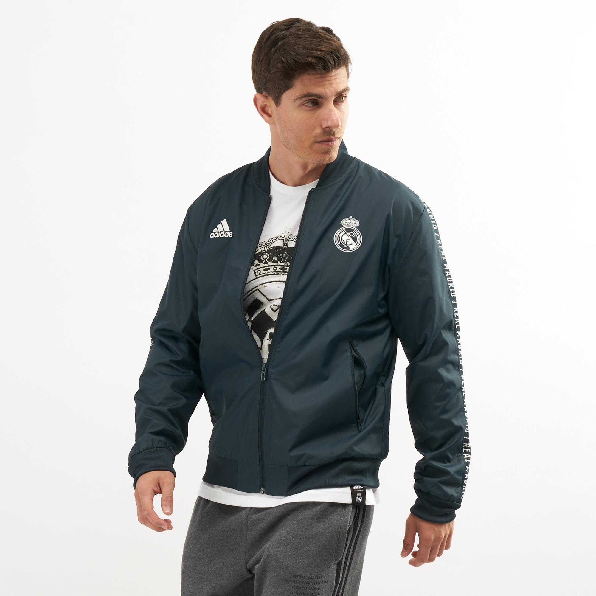 fb6a2a2947 adidas Men's Real Madrid Anthem Jacket