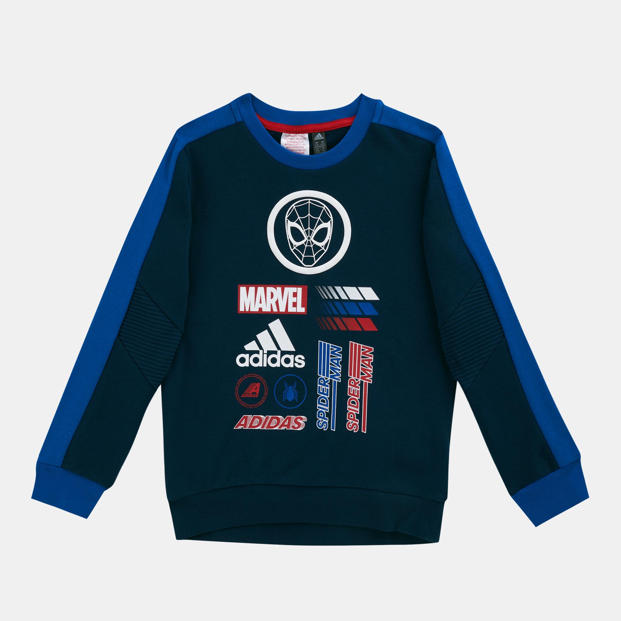 3920db70015 adidas Kids' Marvel Spider-Man Crew Sweatshirt (Older Kids) | Sweatshirts |  Hoodies and Sweatshirts | Clothing | Kids | SSS