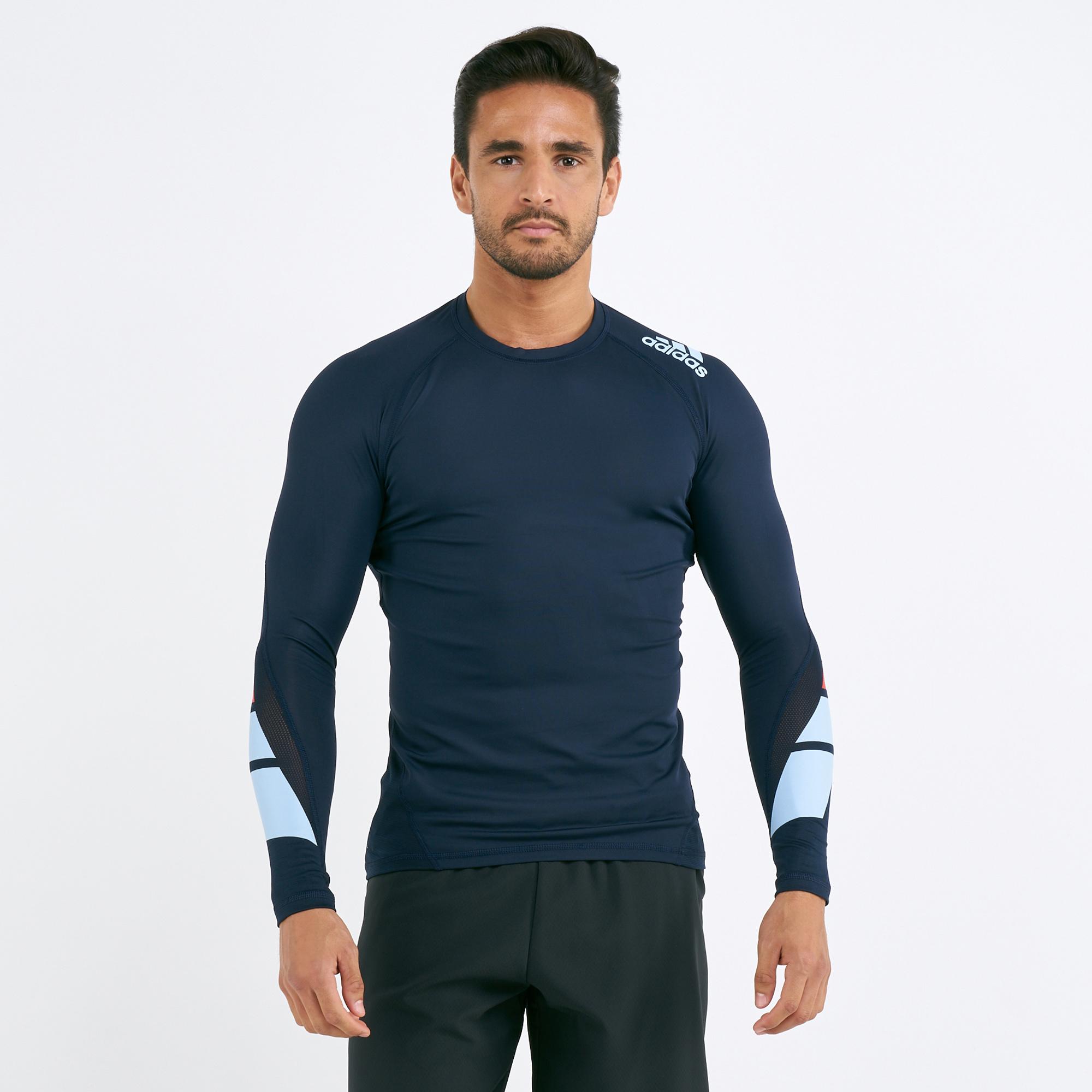 cbc8832f adidas Men's Moto Pack Alphaskin Long Sleeves T-shirt
