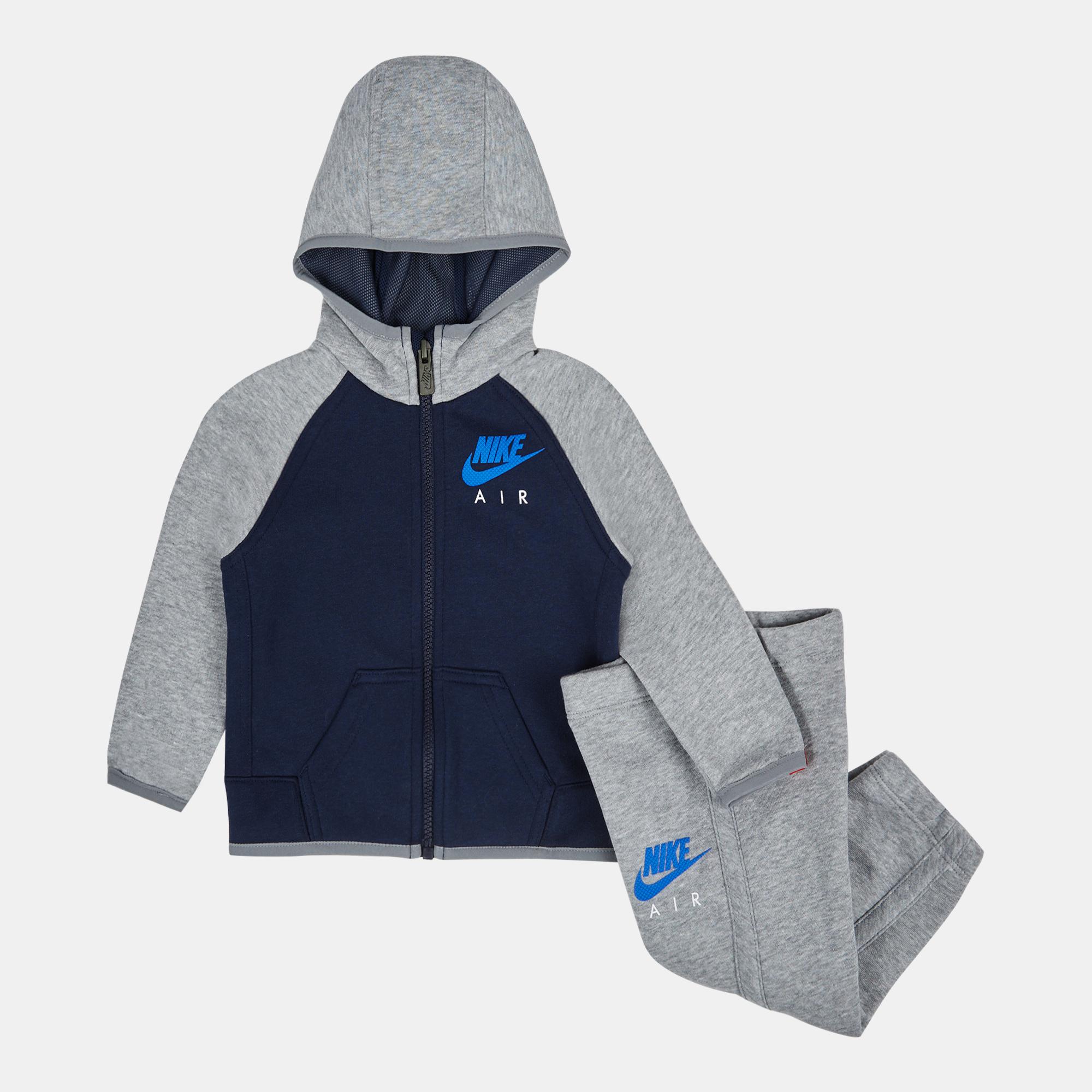 70c9636d9a12 Shop Blue Nike Kids  HBR Brushed Fleece Tracksuit for Kids by Nike