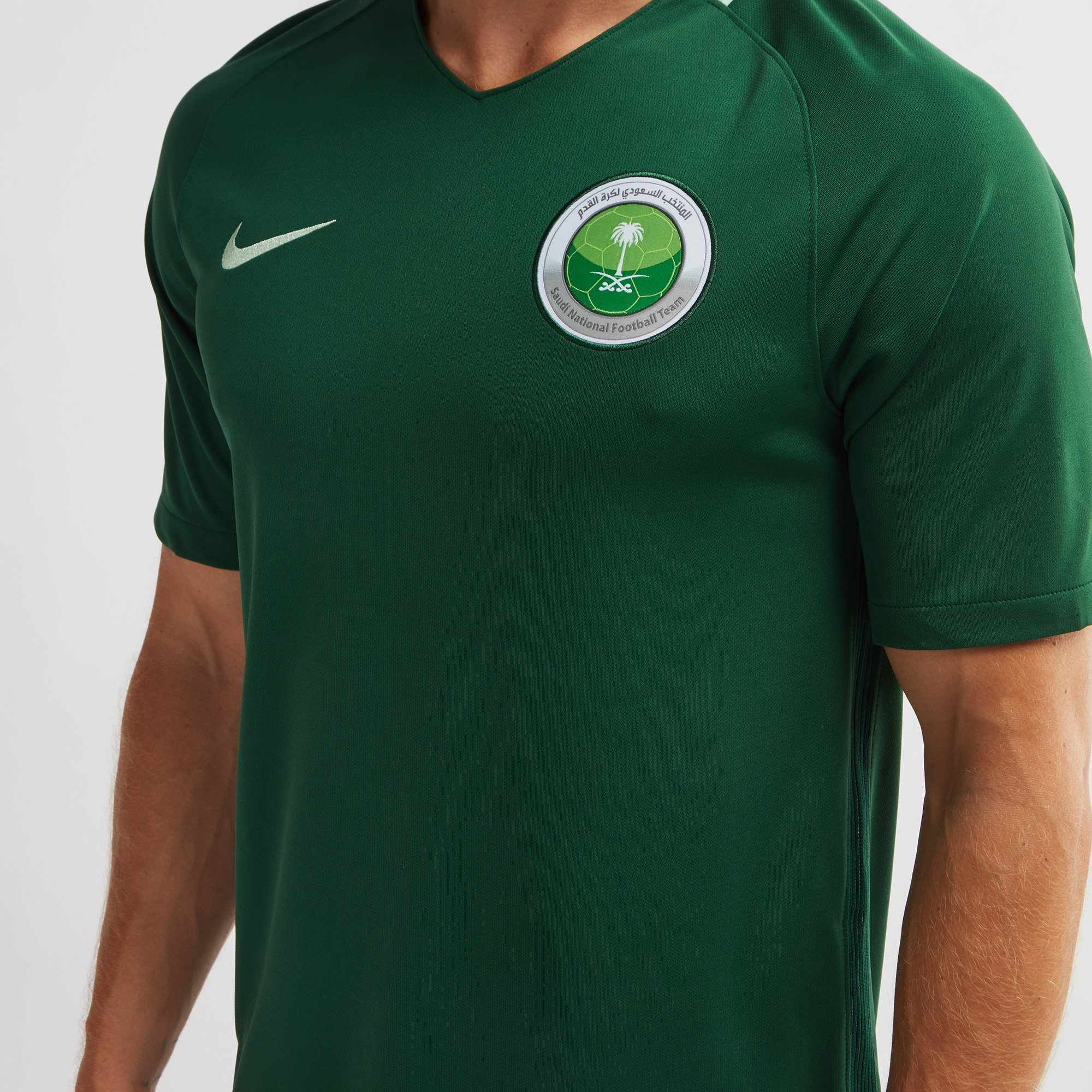 huge selection of 83805 53cb2 Shop Green Nike Saudi Arabia Stadium Away Football Jersey ...