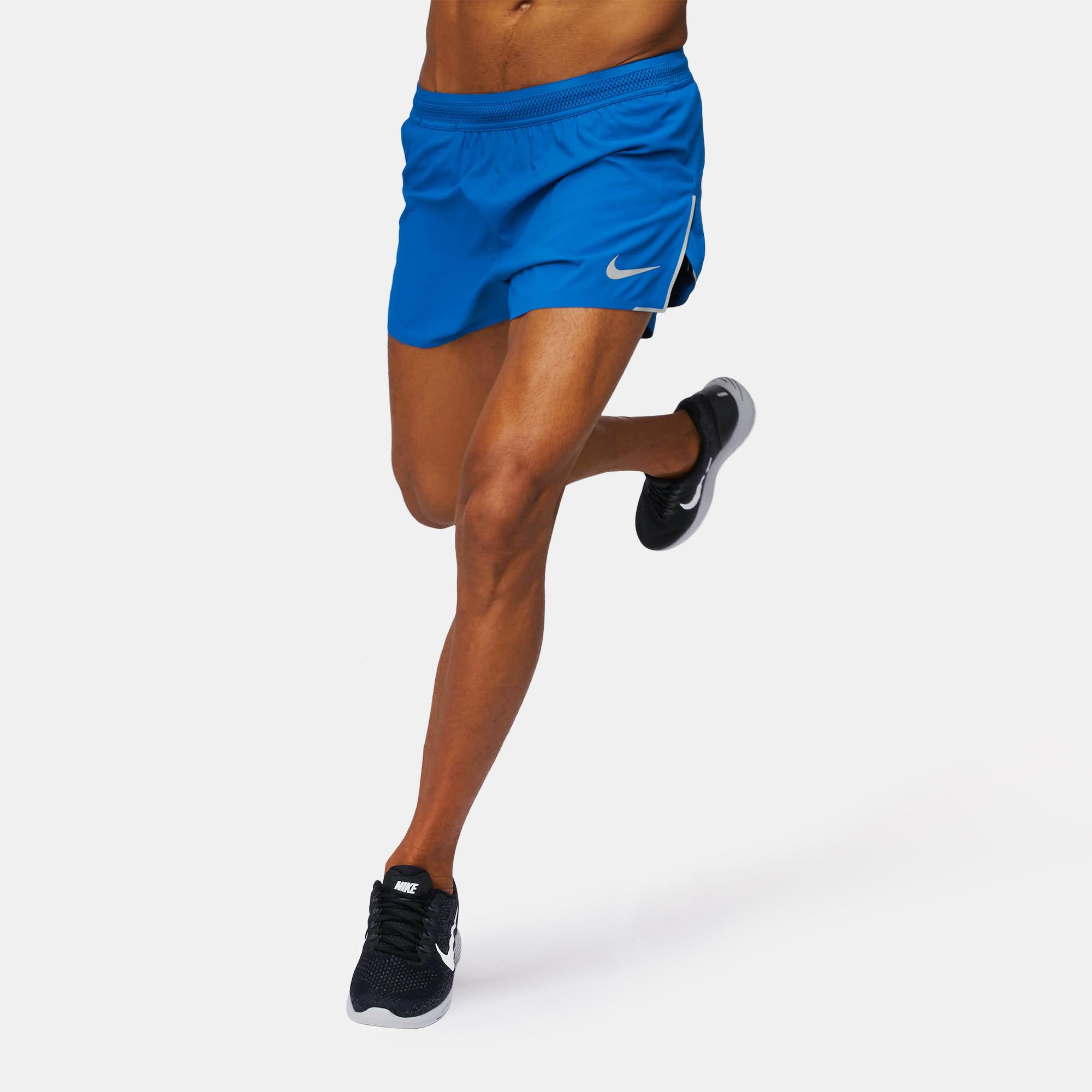 "7daf7cf1502ac2 Shop Blue Nike AeroSwift 4"" Running Shorts for Mens by Nike"