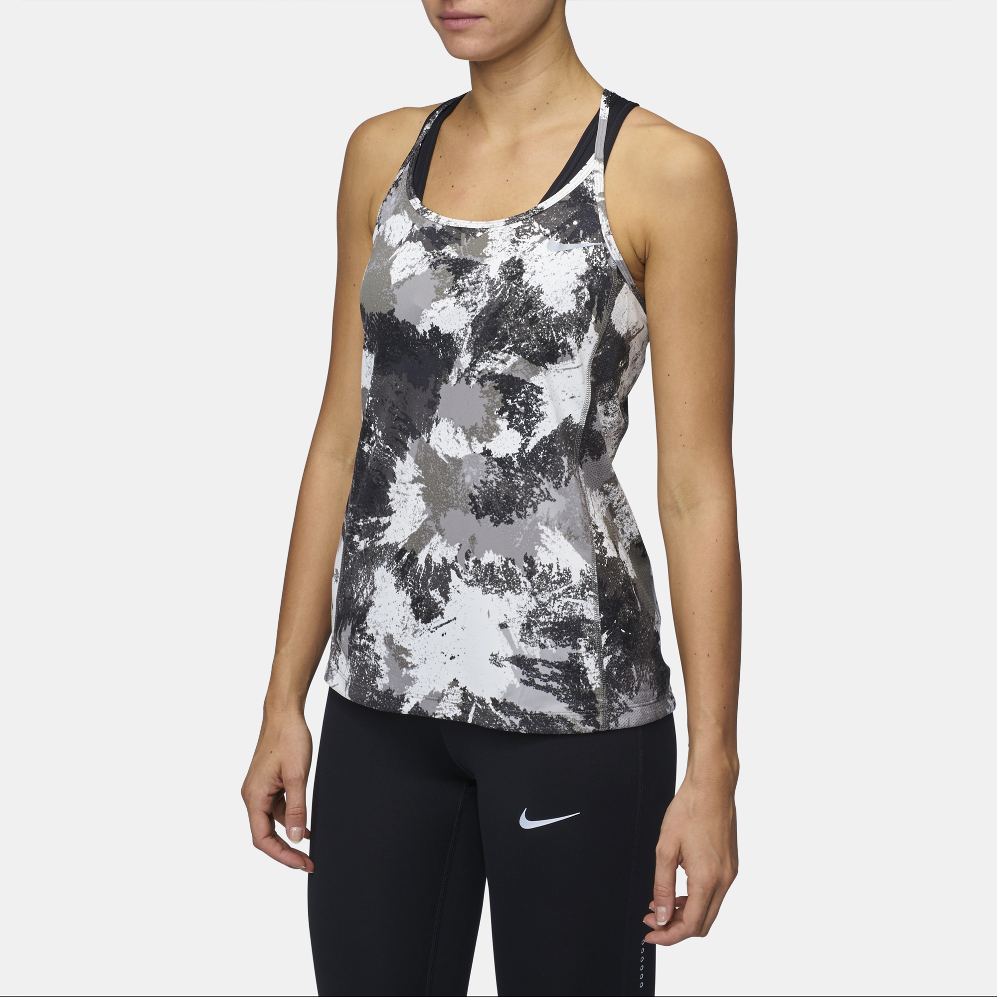 506e66de74ce4 Shop Black Nike Dry Miler Running Tank Top for Womens by .