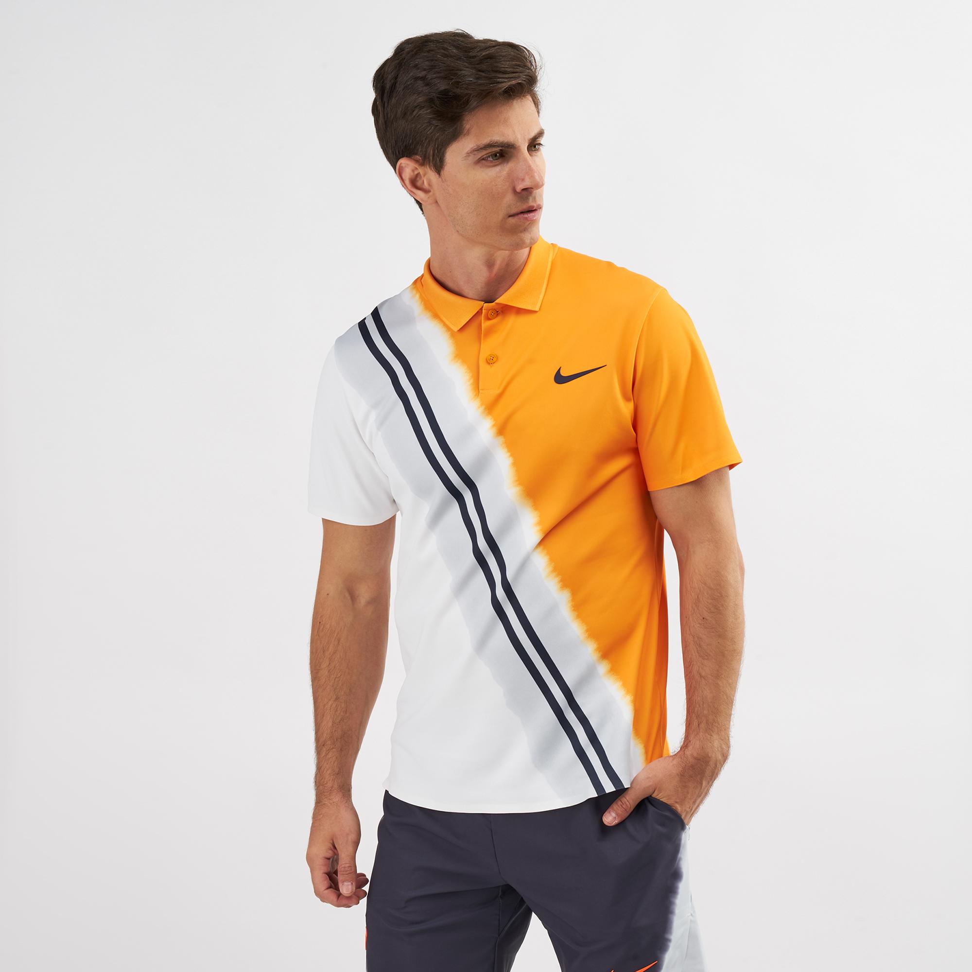 Nike Dri Fit Court Breath Premier Advantage Splatter Print Polo shirt tennis men