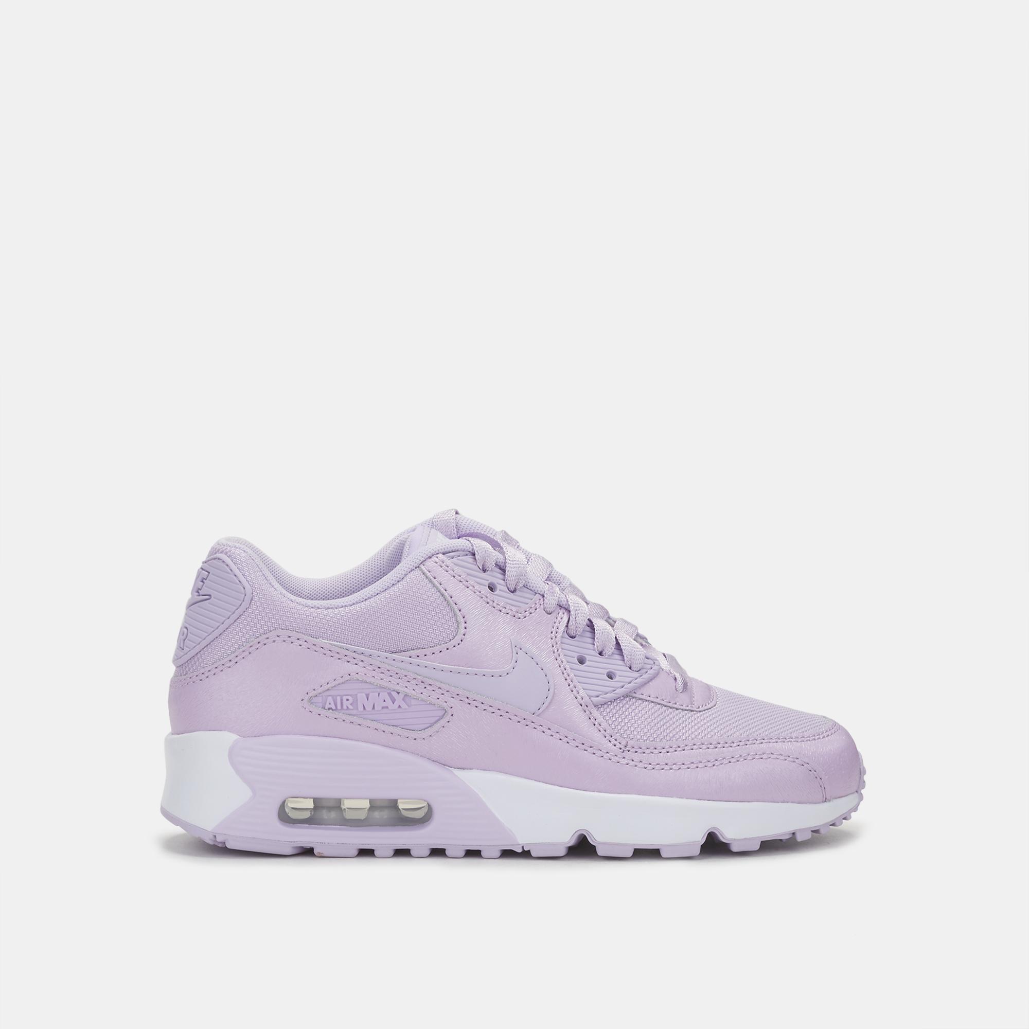 sports shoes d24ed ffadc Shop Purple Nike Kids  Air Max 90 SE Mesh Shoe for Kids by Nike   SSS