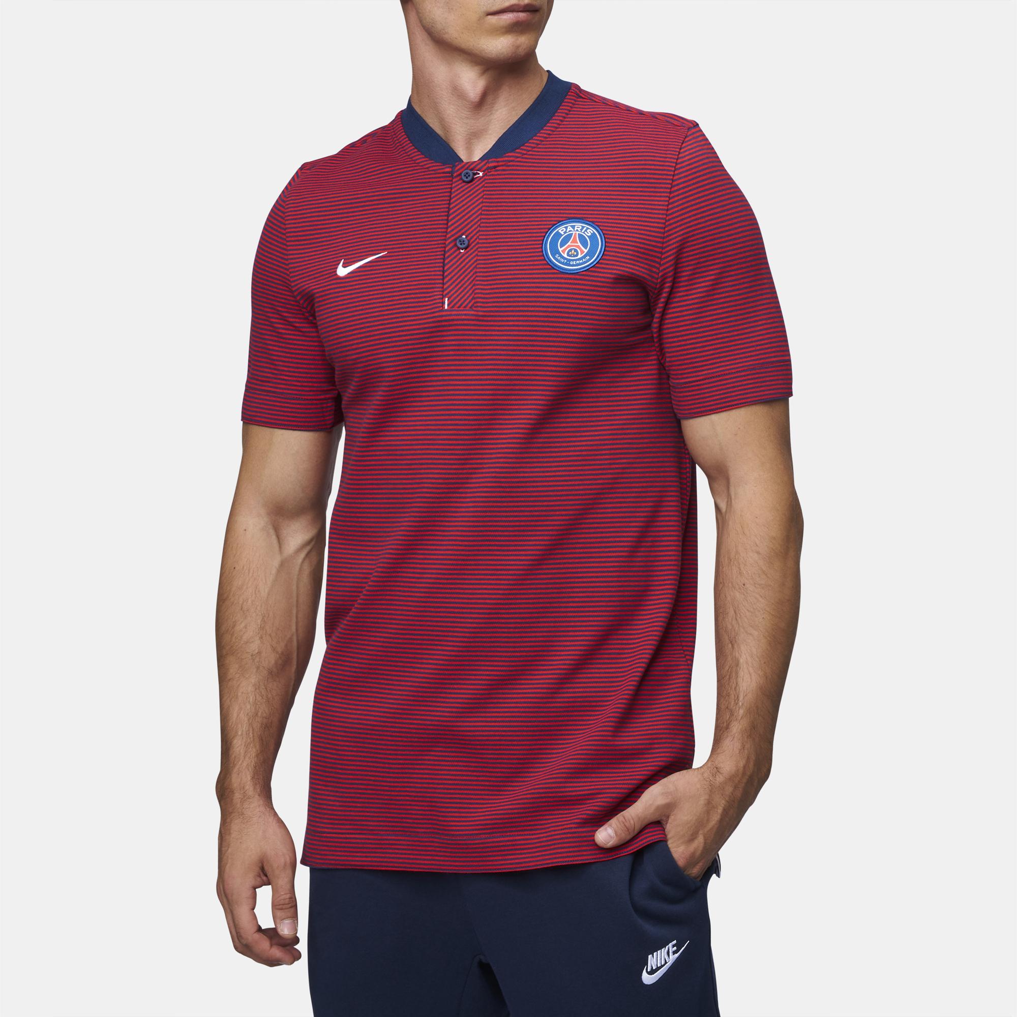 9ce3f29f1 Shop Blue Nike Paris Saint-Germain Modern Authentic Grand Slam Polo T-Shirt  for Mens by Nike | SSS