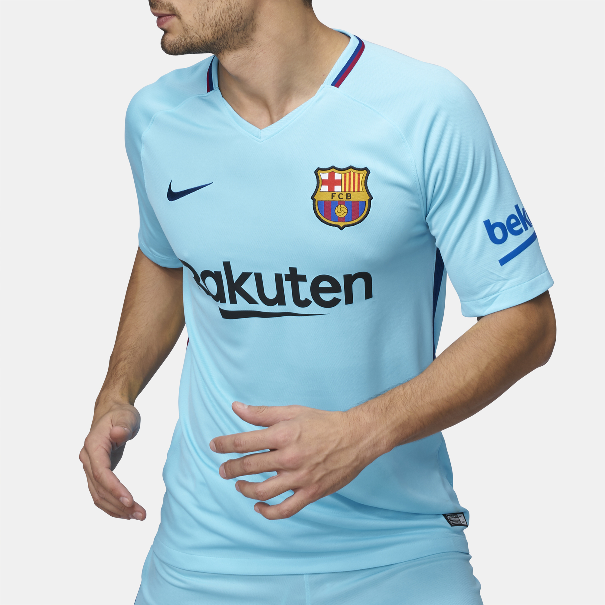 5970fc9f5 Shop Blue Nike FC Barcelona Stadium Away Football Jersey – 2017 2018 ...