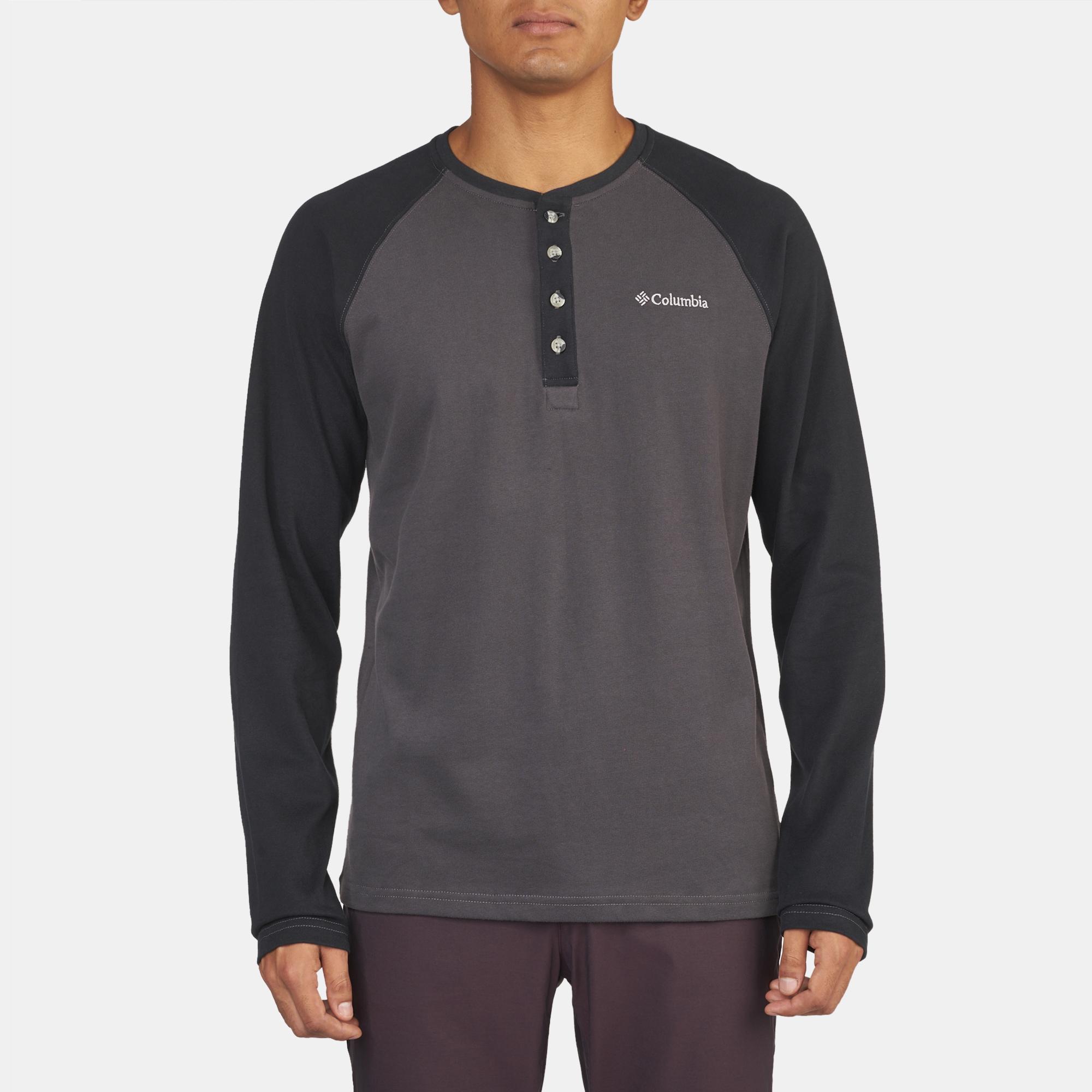 faf040d4b18 Shop Black Columbia Ward River™ Henley T-Shirt for Mens by Columbia | SSS